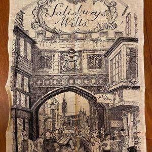 Vintage Irish linen tea towel Salisbury Wilts